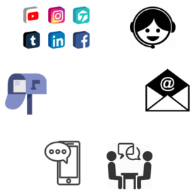 Image of different communication channels