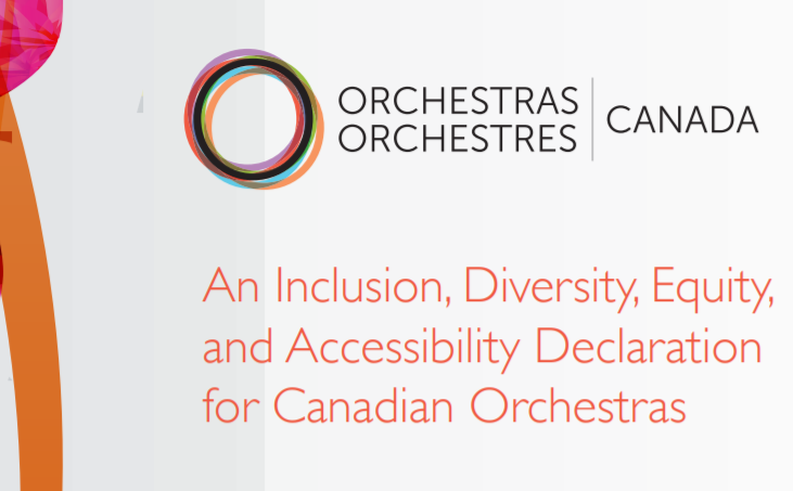 An Inclusion, Diversity, Equity and Accessibility Declaration for Canadian Orchestras