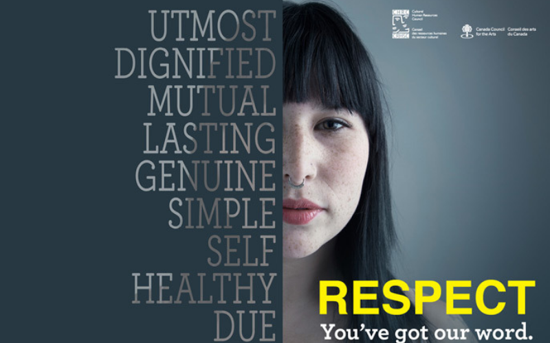 Poster for respect in the workplace