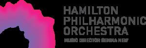 Hamilton Philharmonic Orchestra logo. Music Director: Gemma New