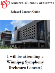 "Image of the cover of the Relaxed Concert Guide: ""I will be attending a Winnipeg Symphony Orchestra Concert"""