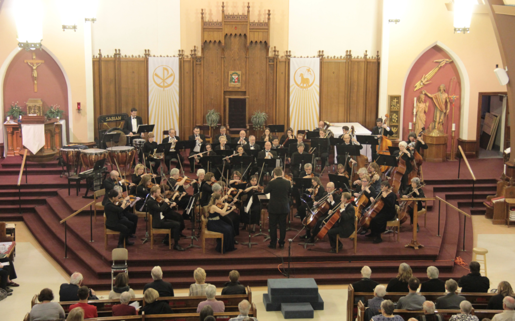 Timmins Symphony playing in cathedral
